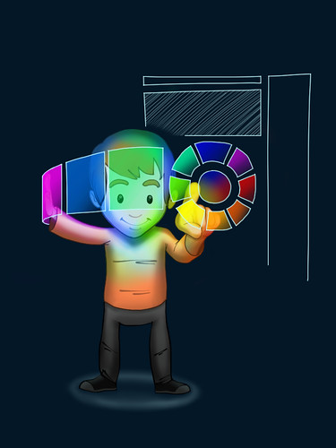 Boy with Color Wheel