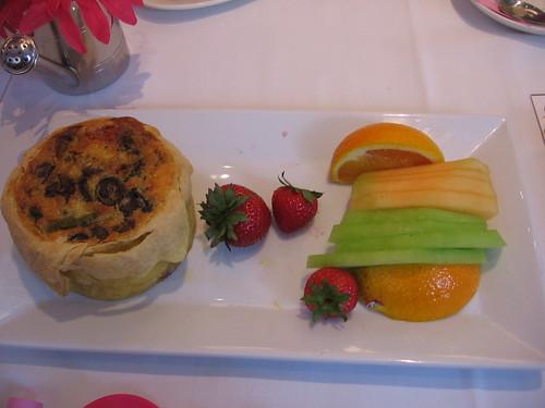 My order -- veggie quiche