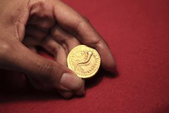Gold mnaieion of Ptolemy V Found in Israel