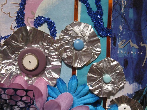 "Foil flowers from Gauche Alchemy's ""Wholy Sheet kit"""