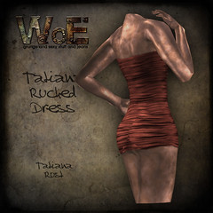 Tatiana Ruched Dress - Rust