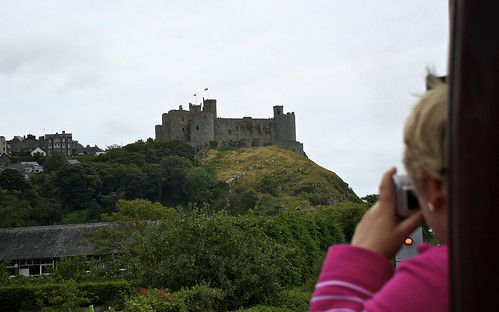 Harlech Castle From The Steam Train