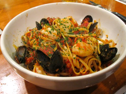 Linguine Pescatore at Carrabba's Event