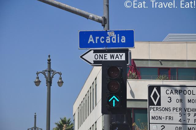 Arcadia Street Sign