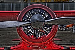 Red  Aircraft (Michis Bilder) Tags: aircraft propeller hdr aeroengine ilaberlin