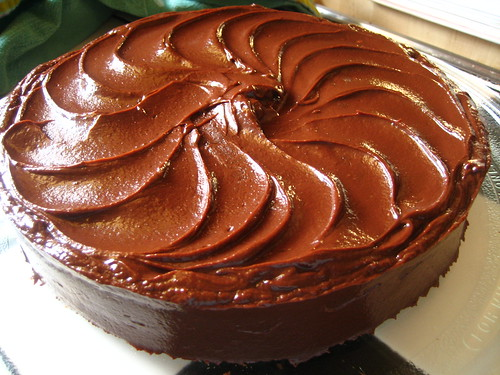 Chocolate Layer Cake with Caramel Ganache