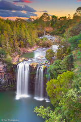 Waterfall at Sunset (-yury-) Tags: sunset landscape waterfall australia falls nsw dorrigo dangar waterfallway