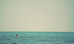 Alone (Majipineapple) Tags: woman girl hawaii waiting surf alone surfer babe simplicity lonely simple kona