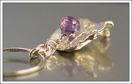 Water cast pendant & cubic zirconia