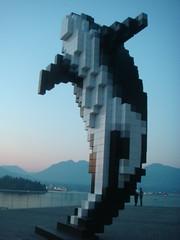 Douglas Coupland's Digital Orca (Denisekiwah) Tags: vancouver whale publicart douglascoupland vancouverconventioncenter digitalorca