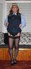 Schoolgirl Bunny (Bunnymaid2) Tags: stockings knickers transvestite upskirt suspenders miniskirt crossdresser shortskirts heavymakeup garters blackstockings schoolgirluniform stockingtops schoolknickers schoolpanties navyblueknickers upperthighs schoolgymslip navybluepanties navyschooluniform