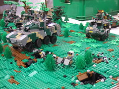 NDC wheeled armour (Aleksander Stein) Tags: infantry army us lego display military battle scifi collaborative armour nato 2010 ndc cbu nbr brickfair
