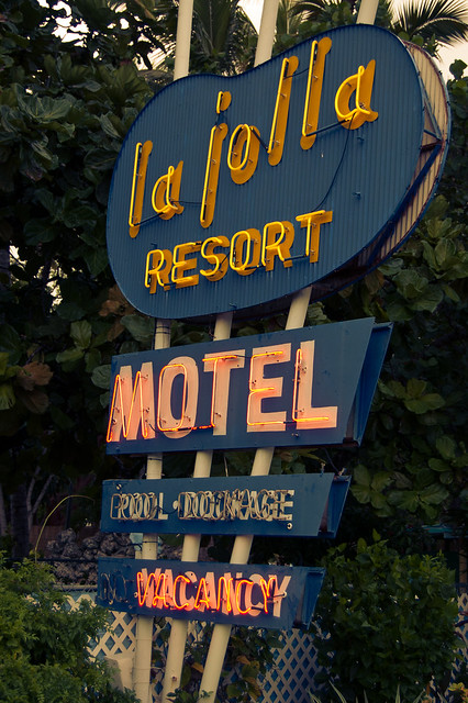 """... I love everything about motels. I can't help myself. I still get excited every time I slip a key into a motel room door and fling it open."""