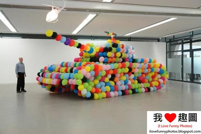 用氣球做的坦克