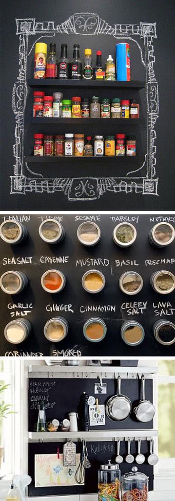 chalkboard spice racks