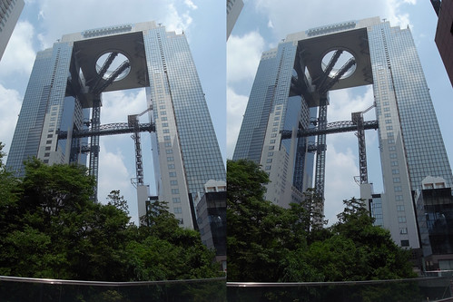 Umeda Sky Building, Osaka, 3D parallel view
