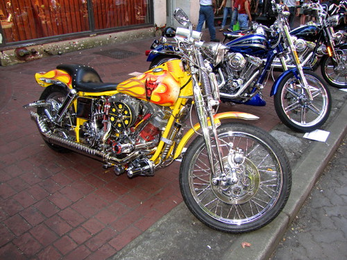 1996 Harley-Davidson Custom, Gastown Motorcycle Show n' Shine 2010 Had Hell Angels and Bike Enthusiasts Ogling