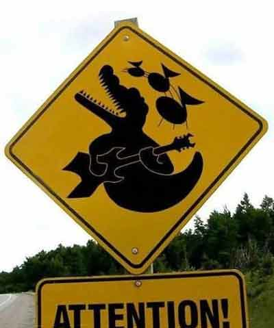 crocodilerock funny sign