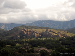 Scenes From Vasquez Rocks (mlanza) Tags: california mountains rock clouds sanandreasfault antelopevalley formations sangabrielmountains santaclaritavalley aguadulce vasquezrocks losangelescounty naturalpark