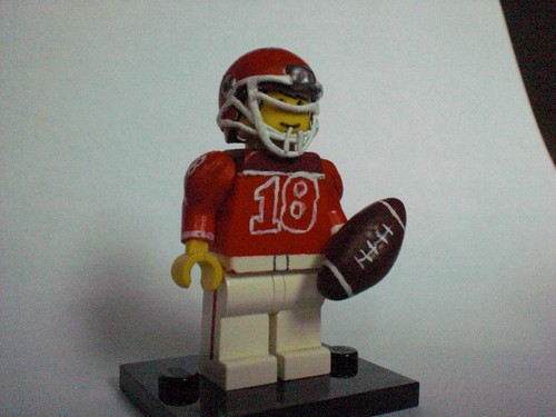 american football player custom minifig