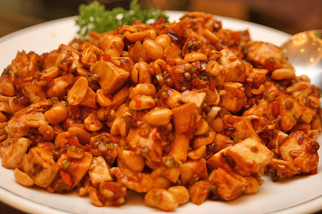 Chicken with peanuts