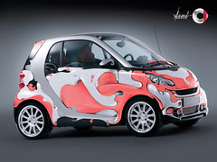 Kinky Pinky Smart (Kliment*) Tags: pink girl smart car illustration design colorful drawing girly wrap bubbles bubble draw custom kliment klimentkalchev