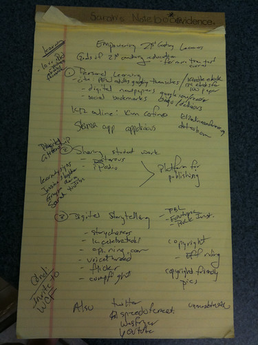 Brainstorming a keynote