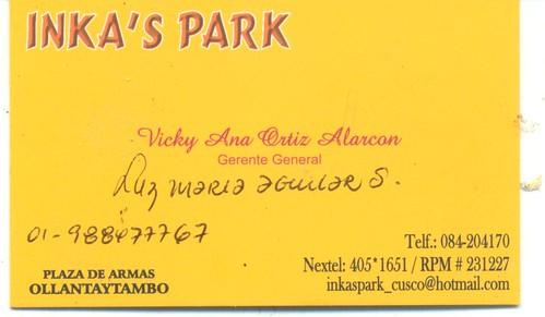 ollantaytambo hotel inka's park voor