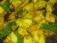 Cooked cucumbers