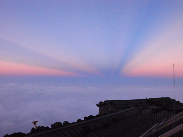 富士山ホテルの日没, 富士山登山(吉田ルート) Climb Mt.Fuji(Yoshida Trail)