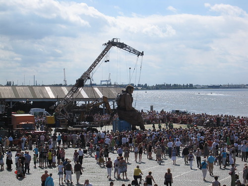 The Giant Diver by The River Schelde