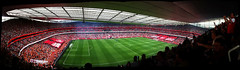 Emirates 2010 Panorama (atomicShed) Tags: blackpool arsenal emiratesstadium northbank premierleague epl clockend 1sthomegameoftheseason