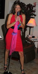 08-21-2010 T1i Laura's Birthday Party 106 (James Scott S) Tags: birthday red usa laura girl lady canon scott eos rebel james women dress legs florida united renee celebration ii lauras singer acting di heels fl states af gonzalez dslr tamron vc 500d f3563 18270mm t1i