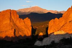 Shadow Sandwich (Russ W Jackson) Tags: sunrise landscape colorado gardenofthegods coloradosprings pikespeak