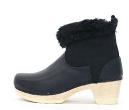No6 Shearling Clog boots