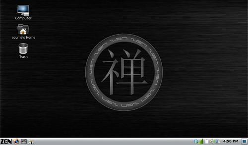 PCLinuxOS Gnome ZenMini Desktop