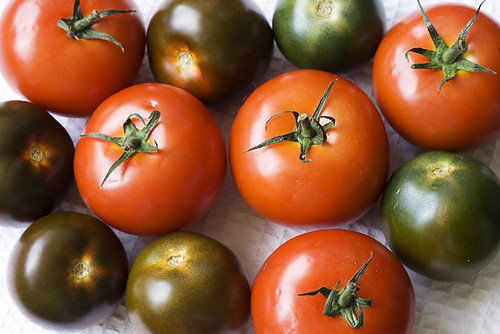 Black Tomatoes and Regular Ones