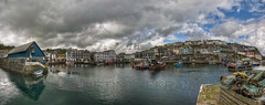 Mevagissey Inner Harbour (_ justintheframe_) Tags: panorama boats coast fishing nikon cornwall harbour fishingboats gettyimages mevagissey fishingnets tonemapped d40x justintheframe