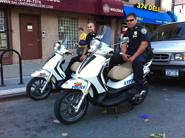 NYPD's finest on Italian muscle scooters!