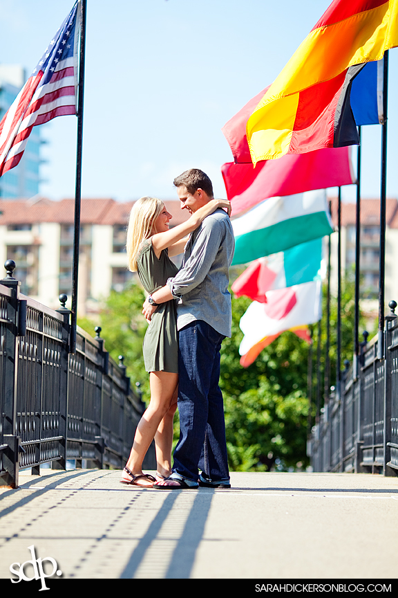Country Club Plaza, Kansas City engagement images