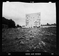 (EBcoro) Tags: school bw white black industry 6x6 germany studio concrete deutschland design essen mine long exposure 2000 image pinhole route architektur medium format fotografia sanaa coal minimalism zero medio architettura zollverein zeche 25mm nishizawa sejima kazuyo formato industriekultur stenopeica ryue