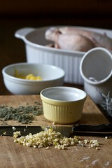 Garlic Sage Roasted Chicken (Chiot's Run) Tags: chicken cooking herbs chopping preparation roasting cuttingboard inthekitchen choppedgarlic cookingwithherbs preparingachickenforroasting garlicsagechicken