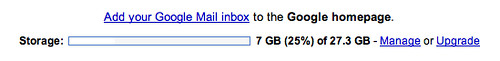 I bought additional storage for my Gmail account