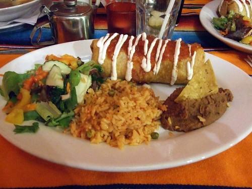 Vegan chimichanga from Rancho Relaxo