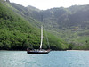 Kate Upping Anchor Daniel's Bay, Nuku Hiva, Taken by Blauwe Pinquin