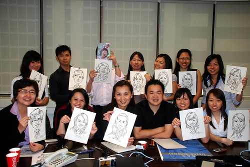 Caricature live sketching @ UOB Finance Division - 13