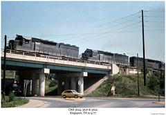 CRR 3624, 3616 & 3622 (Robert W. Thomson) Tags: railroad bridge train diesel tennessee overpass railway trains locomotive trainengine kingsport sd45 crr emd sd452 clinchfield sixaxle