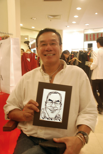 Caricature live sketching for Marella boutique - 16