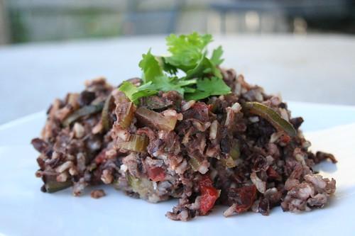 Brown & Black Rice Casserole with Black Beans & Garden Vegetables ...