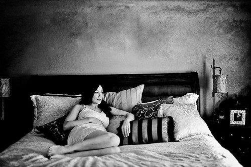 Beautiful Black & White, Maternity with texture